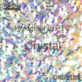 "12"" x 20"" Sheet Siser Holographic HTV - Crystal"