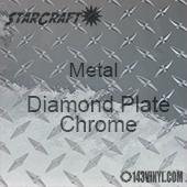 "12"" x  24"" Sheet - StarCraft Metal - Diamond Plate Chrome"