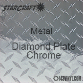 "12"" x 12"" Sheet - StarCraft Metal- Diamond Plate Chrome"