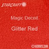 """12"""" x 12"""" Sheet - StarCraft Magic - Deceit Glitter Red"""