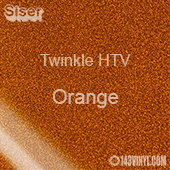 "12"" x 20"" Sheet Siser Twinkle HTV - Orange"