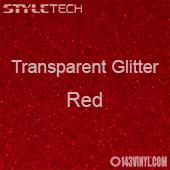 """StyleTech Transparent Glitter - Red - 12""""x24"""" Sheet"""