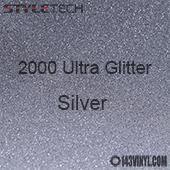 "StyleTech 2000 Ultra Glitter - 126 Silver - 12""x24"" Sheet"