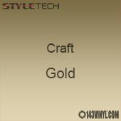 """Styletech Craft Vinyl - Gold- 12"""" x 24"""" Sheet"""