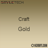 "Styletech Craft Vinyl - Gold- 12"" x 5 Foot"