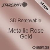 """12"""" x 24"""" Sheet -StarCraft SD Removable Matte Adhesive - Metallic Rose Gold"""