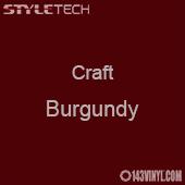 "Styletech Craft Vinyl - Burgundy- 12"" x 5 Foot"
