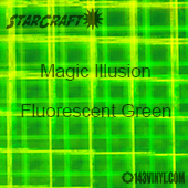 "12"" x 24"" Sheet - StarCraft Magic - Illusion Fluorescent Green"