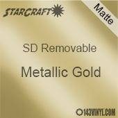 "12"" x 24"" Sheet -StarCraft SD Removable Matte Adhesive - Metallic Gold"