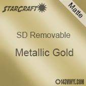 "12"" x 12"" Sheet -StarCraft SD Removable Matte Adhesive - Metallic Gold"