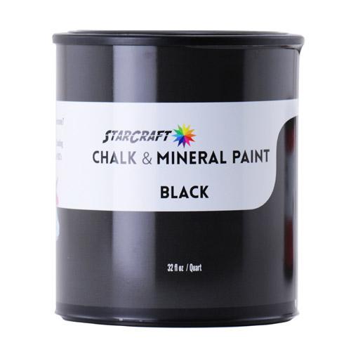 StarCraft Chalk & Mineral Paint - Quart, 32oz-Black