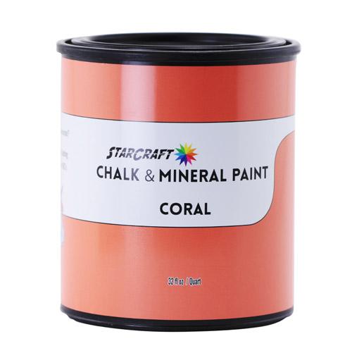 StarCraft Chalk & Mineral Paint - Quart, 32oz-Coral