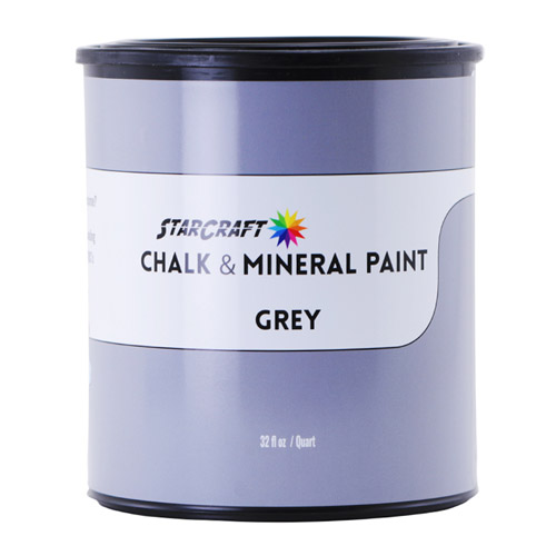 StarCraft Chalk & Mineral Paint - Quart, 32oz-Grey