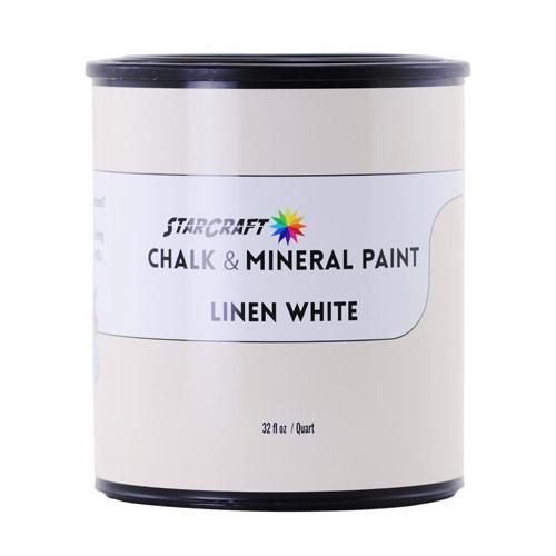 StarCraft Chalk & Mineral Paint - Quart, 32oz-Linen White