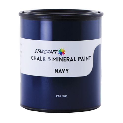 StarCraft Chalk & Mineral Paint - Quart, 32oz-Navy