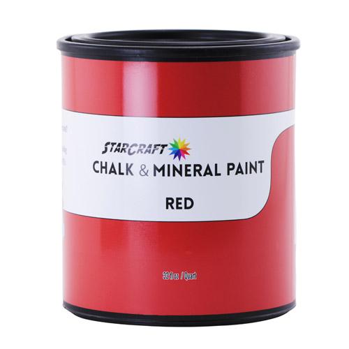 StarCraft Chalk & Mineral Paint - Quart, 32oz-Red