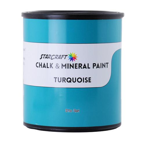 StarCraft Chalk & Mineral Paint - Quart, 32oz-Turquoise