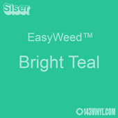 """EasyWeed HTV: 12"""" x 5 Foot - Bright Teal"""