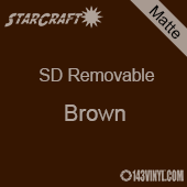 """12"""" x 10 Yard Roll  -StarCraft SD Removable Matte Adhesive - Brown"""