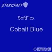"""12"""" x 24"""" Sheet -StarCraft SoftFlex HTV - Cobalt Blue"""
