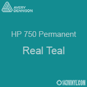 """Avery HP 750 - Real Teal- 12"""" x 5 Foot"""