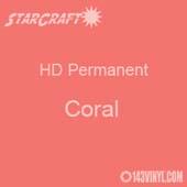 "12"" x 24"" Sheet - StarCraft HD Glossy Permanent Vinyl - Coral"