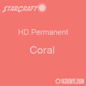 "12"" x 5' Roll - StarCraft HD Glossy Permanent Vinyl - Coral"