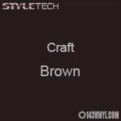 "Styletech Craft Vinyl - Brown- 12"" x 24"" Sheet"