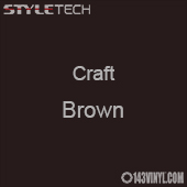 "Styletech Craft Vinyl - Brown- 12"" x 5 Foot"