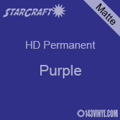 "12"" x 24"" Sheet - StarCraft HD Matte Permanent Vinyl - Purple"