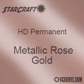 "12"" x 24"" Sheet - StarCraft HD Glossy Permanent Vinyl - Metallic Rose Gold"