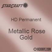 "24"" x 10 Yard Roll - StarCraft HD Glossy Permanent Vinyl - Metallic Rose Gold"