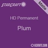 """12"""" x 5' Roll - StarCraft HD Matte Permanent Vinyl - Plum"""