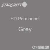 "12"" x 24"" Sheet - StarCraft HD Glossy Permanent Vinyl - Grey"