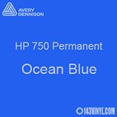 """Avery HP 750 - Ocean Blue- 12"""" x 5 Foot"""
