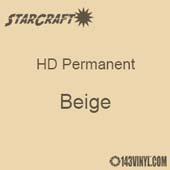 "12"" x 5' Roll - StarCraft HD Glossy Permanent Vinyl - Beige"