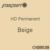 "12"" x 10 Yard Roll - StarCraft HD Glossy Permanent Vinyl - Beige"