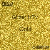 """Glitter HTV: 12"""" x 5 Yard Roll - Gold"""