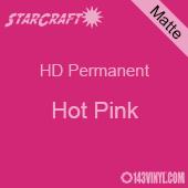 """12"""" x 24"""" Sheet - StarCraft HD Matte Permanent Vinyl - Hot Pink"""