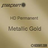 "12"" x 24"" Sheet - StarCraft HD Glossy Permanent Vinyl - Metallic Gold"