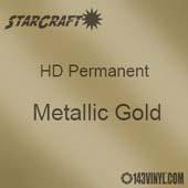 "12"" x 12"" Sheet - StarCraft HD Glossy Permanent Vinyl - Metallic Gold"