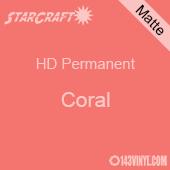 "12"" x 5' Roll - StarCraft HD Matte Permanent Vinyl - Coral"
