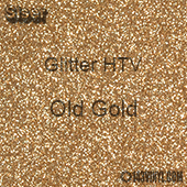 "Glitter HTV: 12"" x 20"" - Old Gold"