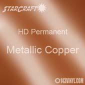 "12"" x 5' Roll - StarCraft HD Glossy Permanent Vinyl - Metallic Copper"