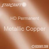 "12"" x 12"" Sheet - StarCraft HD Glossy Permanent Vinyl - Metallic Copper"