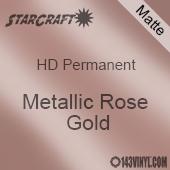 """12"""" x 24"""" Sheet - StarCraft HD Matte Permanent Vinyl - Metallic Rose Gold"""