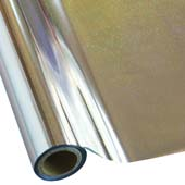 """25 Foot Roll of 12"""" StarCraft Electra Foil - Silver Pixie Dust"""