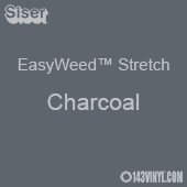 """12"""" x 24"""" Sheet Siser EasyWeed Stretch HTV - Charcoal"""