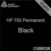 "Avery HP 750 - Matte Black- 12"" x 5 Foot"