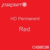 "12"" x 24"" Sheet - StarCraft HD Glossy Permanent Vinyl - Red"